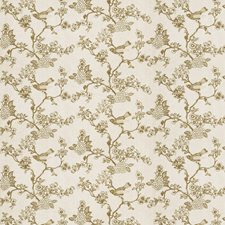 Taupe Embroidery Drapery and Upholstery Fabric by Fabricut