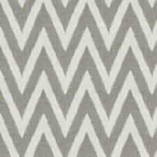 Smoke Flamestitch Drapery and Upholstery Fabric by Fabricut