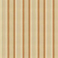 Burnt Orange Stripes Drapery and Upholstery Fabric by Fabricut