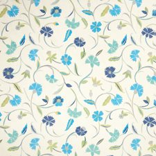 Peacock Floral Drapery and Upholstery Fabric by Fabricut