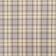 Plum Check Drapery and Upholstery Fabric by Fabricut