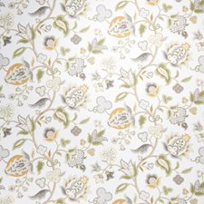 Vanilla Floral Drapery and Upholstery Fabric by Fabricut