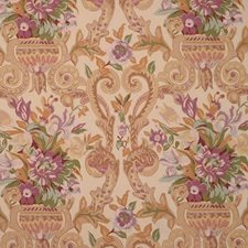 Sandstone Floral Drapery and Upholstery Fabric by Vervain