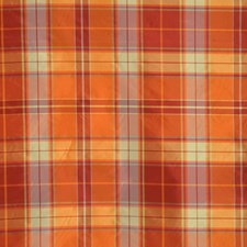 Persimmon Check Drapery and Upholstery Fabric by Vervain