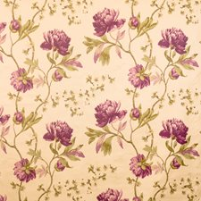 Violet Floral Drapery and Upholstery Fabric by Vervain