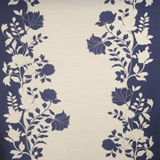 Sapphire Floral Drapery and Upholstery Fabric by Vervain