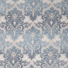 Summer Sky Damask Drapery and Upholstery Fabric by Stroheim