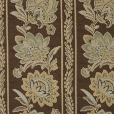 Chocolate Floral Drapery and Upholstery Fabric by Trend