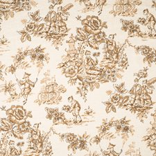 Caramel Print Pattern Drapery and Upholstery Fabric by Trend