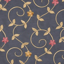 Navy Blue Drapery and Upholstery Fabric by RM Coco