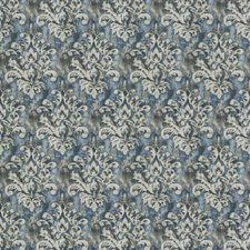 Sea Print Pattern Drapery and Upholstery Fabric by Trend