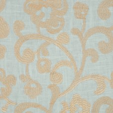 Misty Blue Drapery and Upholstery Fabric by RM Coco