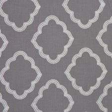 Grey/White Drapery and Upholstery Fabric by RM Coco
