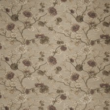Plum Floral Drapery and Upholstery Fabric by Fabricut