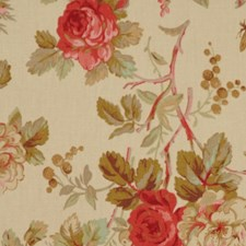 Oregano/Red Drapery and Upholstery Fabric by RM Coco
