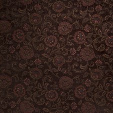 Mocha Floral Drapery and Upholstery Fabric by Fabricut