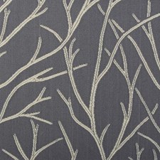 Smoke Leaf Drapery and Upholstery Fabric by Duralee