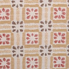 Saffron Geometric Drapery and Upholstery Fabric by Duralee
