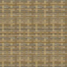 Yellow/Brown Plaid Drapery and Upholstery Fabric by Kravet