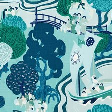 Sea Drapery and Upholstery Fabric by Schumacher