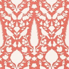 Coral Drapery and Upholstery Fabric by Schumacher