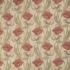 Ruby Floral Drapery and Upholstery Fabric by Fabricut