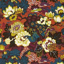 Cinnabar Drapery and Upholstery Fabric by Schumacher