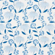 Afternoon Blue Drapery and Upholstery Fabric by Schumacher