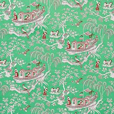 Jade Drapery and Upholstery Fabric by Schumacher