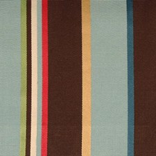 Turquoise/cocoa Drapery and Upholstery Fabric by Highland Court
