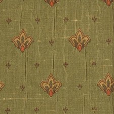Green/melon Drapery and Upholstery Fabric by Highland Court