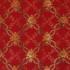 Poppy Red Drapery and Upholstery Fabric by Highland Court