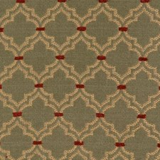 Green/red Drapery and Upholstery Fabric by Highland Court
