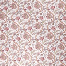 Cerise Floral Drapery and Upholstery Fabric by Fabricut