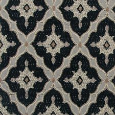 Black/Linen Chenille Drapery and Upholstery Fabric by Highland Court