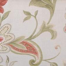 Pink Floral Large Drapery and Upholstery Fabric by Highland Court