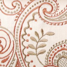Saffron Embroidery Drapery and Upholstery Fabric by Highland Court