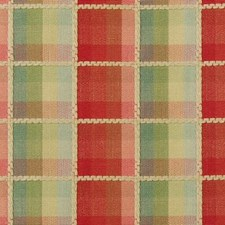 Red/Green Plaid Drapery and Upholstery Fabric by Highland Court