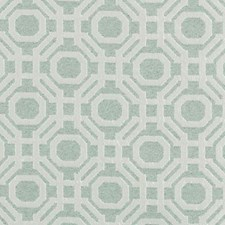 Seafoam Geometric Drapery and Upholstery Fabric by Highland Court