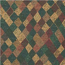 Green/Rust/Gold Diamond Drapery and Upholstery Fabric by Kravet