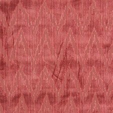 Coral Flamestitch Drapery and Upholstery Fabric by Lee Jofa