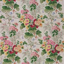 Wht/Pink Print Drapery and Upholstery Fabric by Lee Jofa