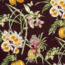 Maroon Drapery and Upholstery Fabric by Lee Jofa