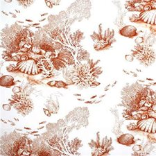 Coral Print Drapery and Upholstery Fabric by Lee Jofa