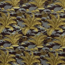Chocolate Botanical Drapery and Upholstery Fabric by Lee Jofa
