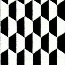 Ebony/Ivory Geometric Drapery and Upholstery Fabric by Lee Jofa
