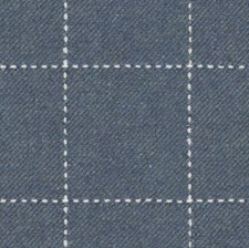 Blue Plaid Drapery and Upholstery Fabric by Lee Jofa