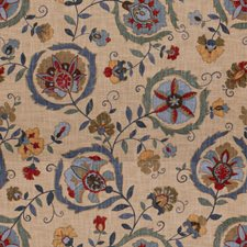 Sky/Sage Botanical Drapery and Upholstery Fabric by Lee Jofa