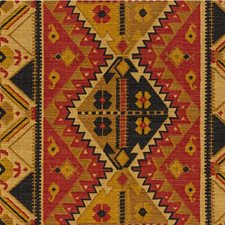 Paprika/Coal Ethnic Drapery and Upholstery Fabric by Lee Jofa