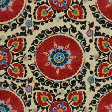 Paprika Ethnic Drapery and Upholstery Fabric by Lee Jofa